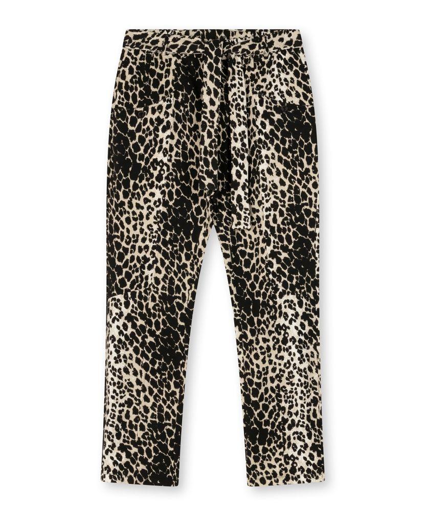 high waist jogger leopard