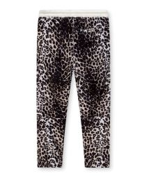 cropped jogger leopard