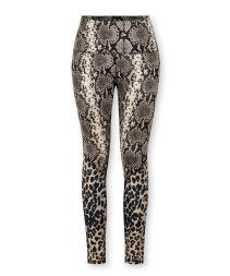 yoga leggings leopard snake