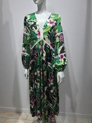 Kleid maxi grün-bunt